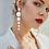 Thumbnail: Faux Pearl Drop Earrings