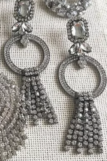 Silver Dazzling Earrings