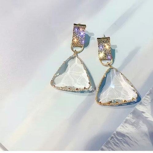 Clear Luxe Gem Earrings