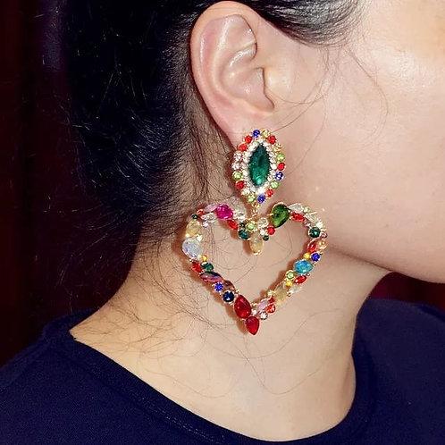Multi color Gemstone Earrings