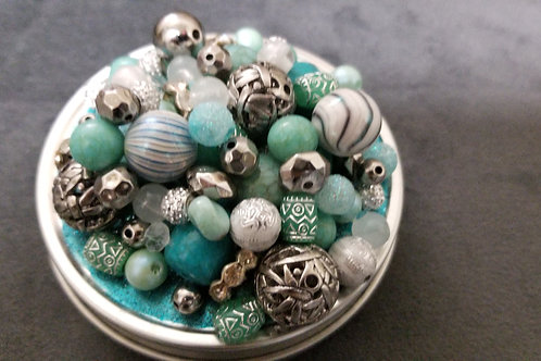 Turquoise and Silver- Redesigned Tin