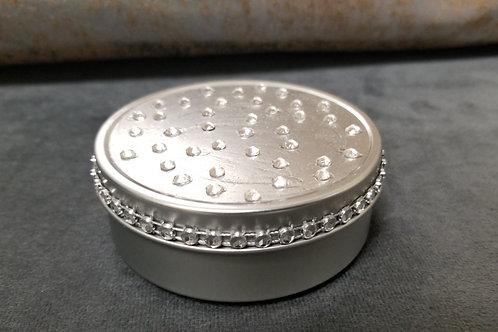 Round Tin Sprinkled with Swarovski Crystals