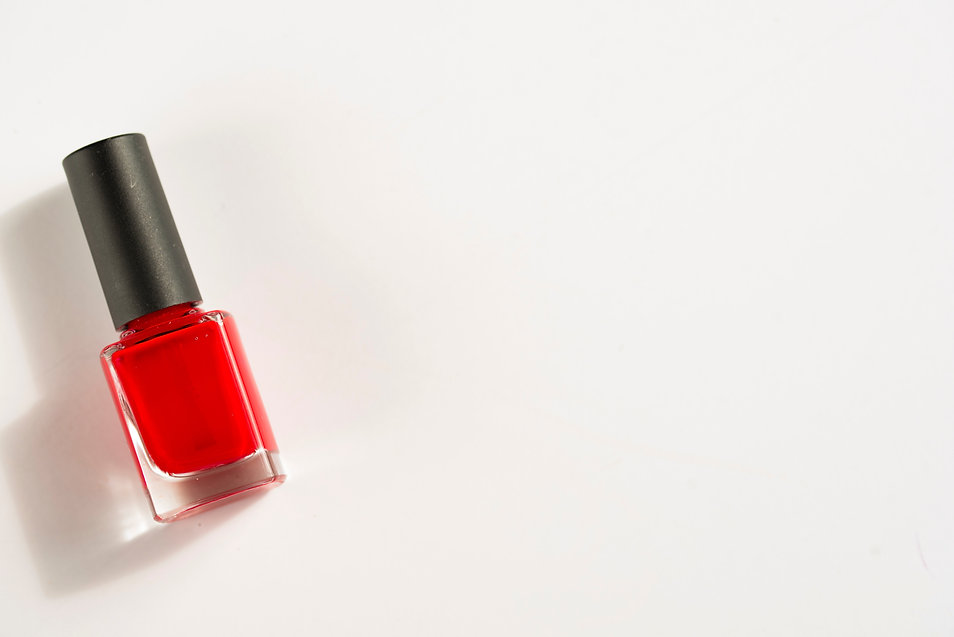 color red polish with white background.j