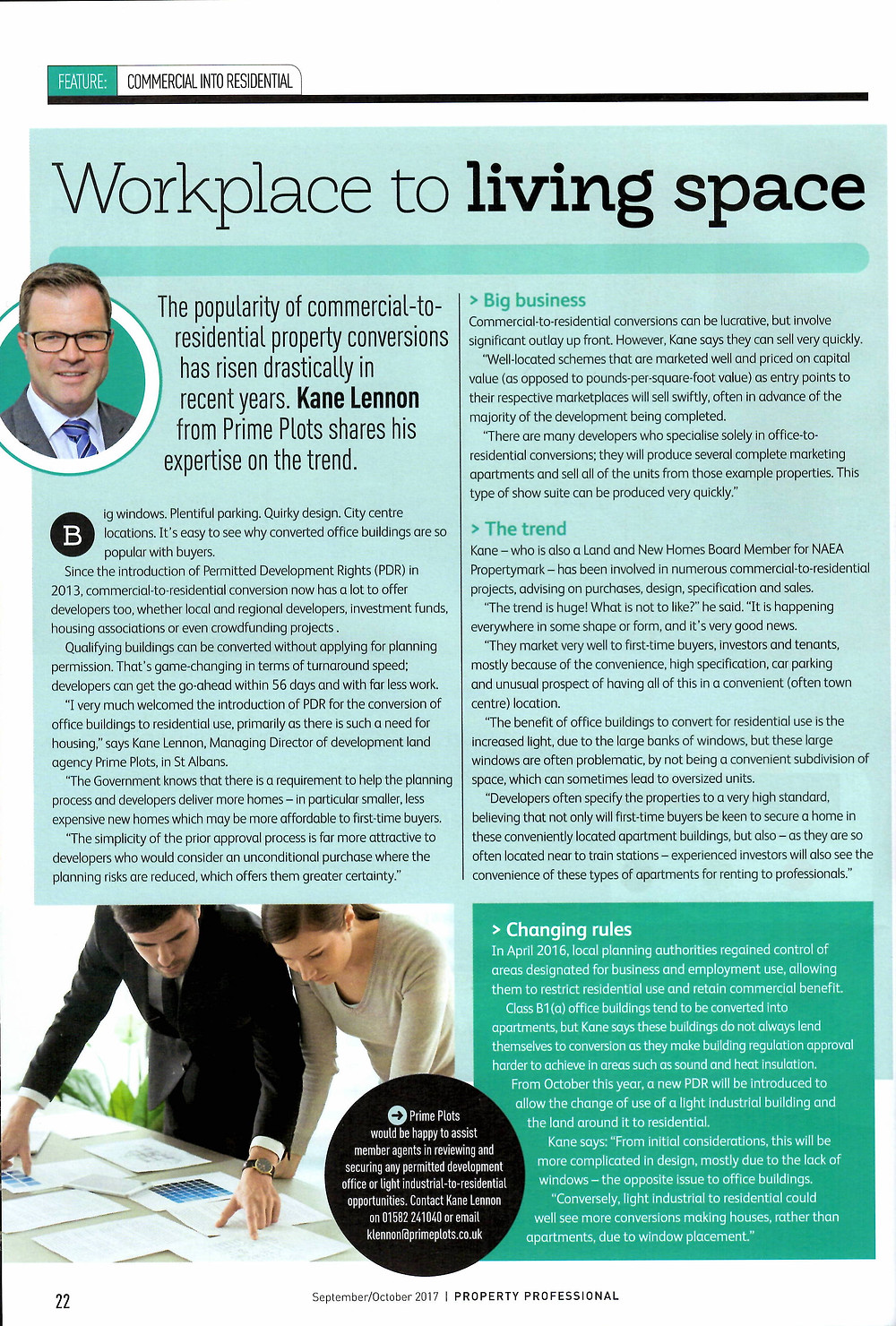Property Professional Magazine - PDR Article - Sept/Oct 2017