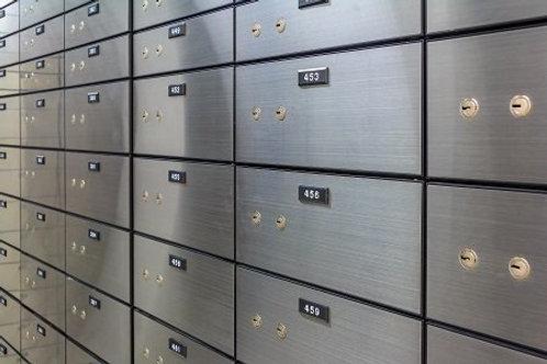 Maintenance-free stainless steel safe deposit box