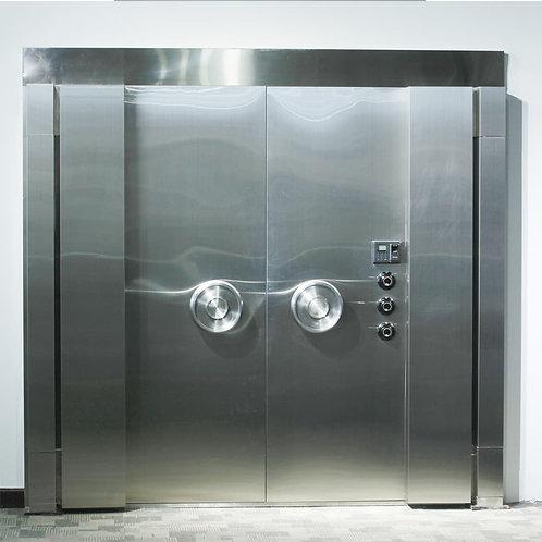 باب مفتوح مزدوج من الفولاذ المقاوم للصدأ