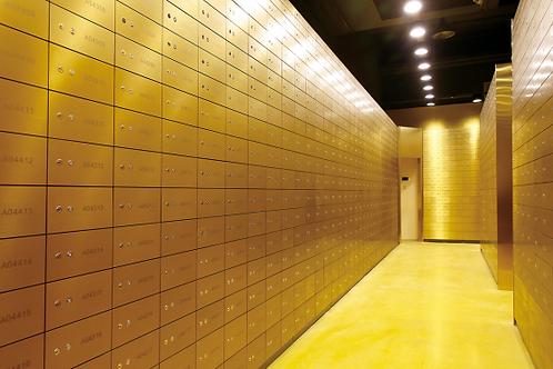 Galvanized Aluminum Alloy  Door Panel Safe Deposit Box