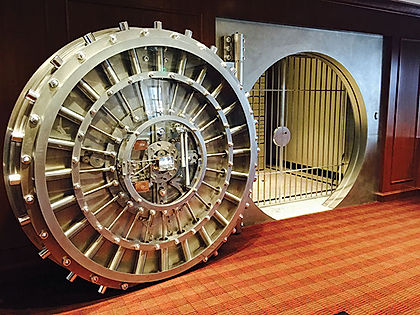 bank safe door