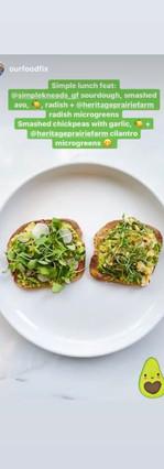 sandwich with microgreens