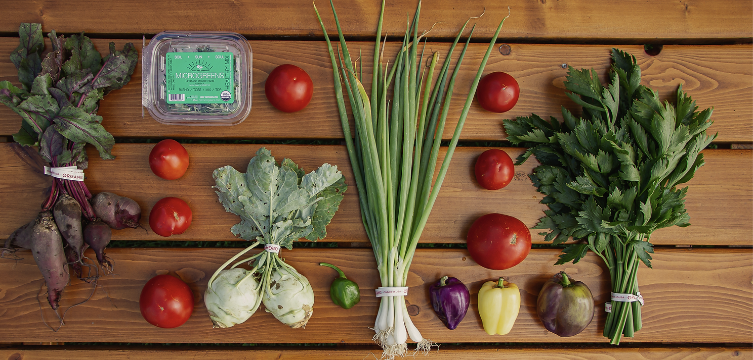 organic produce for restaurants and grocery stores