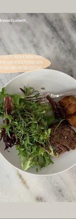 salads with microgreens