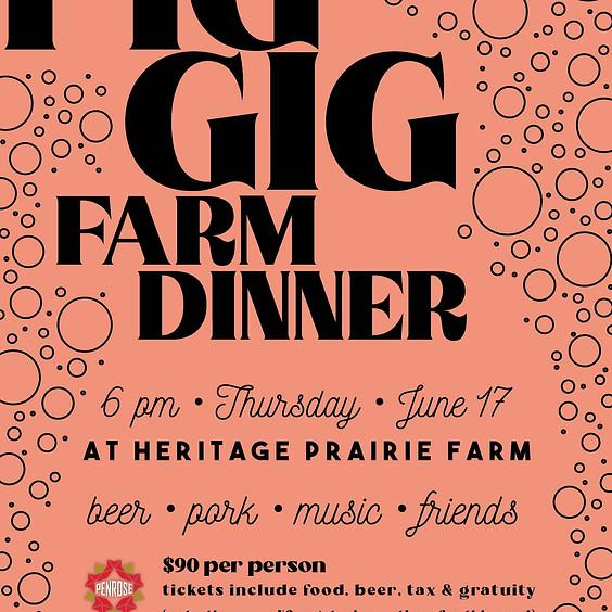 Pig Gig Farm Dinner