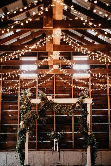 Rustic Barn Wedding Ceremony Setup