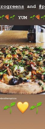 microgreens on pizza