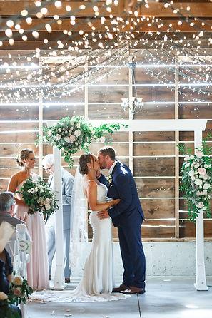 ceremony at a barn wedding venue near chicago