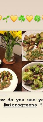 how do you eat microgreens?