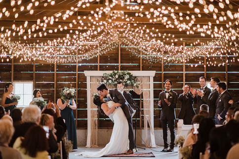 Rustic Barn Boho Wedding Ceremony