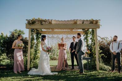 Boho Outdoor Wedding Ceremony