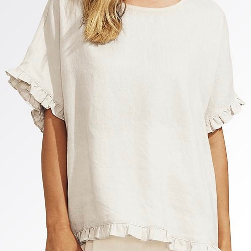 Majorca Frill Top White
