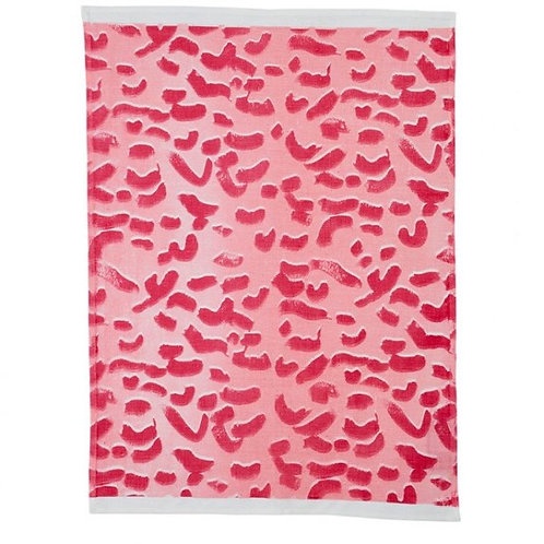 Bonnie & Neil tea towel Leopard Pink