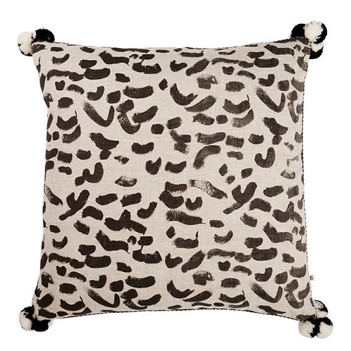 Leopard Black Cushion -Bonnie & Neil