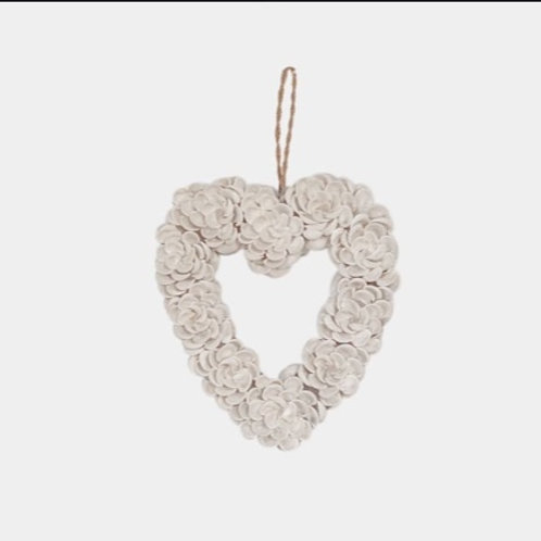 Frangipani Shell Heart