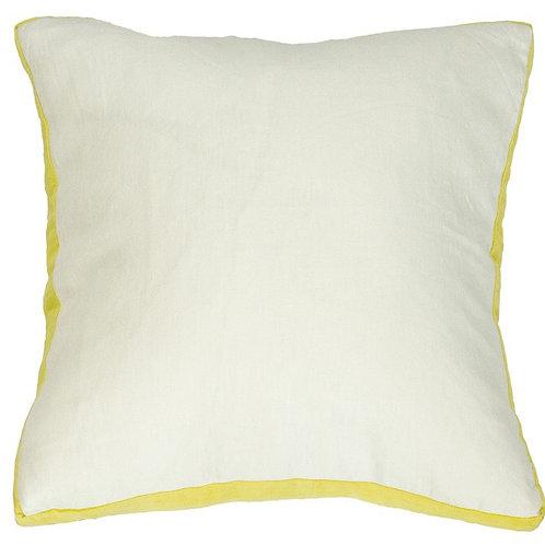 Essential Chartreuse Milk Linen Cushion - Coca Mojo