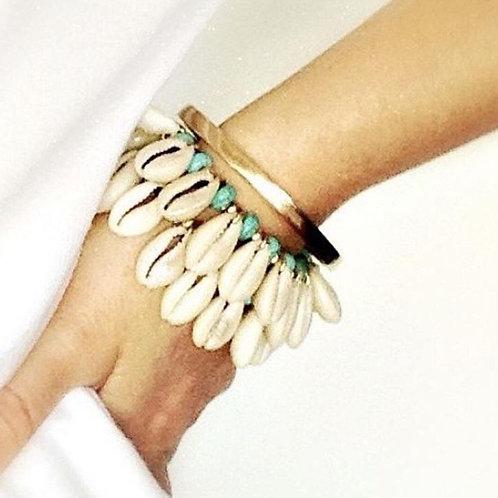 Shell Bracelet- Turquoise