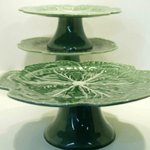 Cabbage Footed Cake Plate