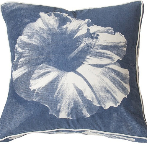 Midnight Hawaiian Hibiscus Cushion- Coca Mojo
