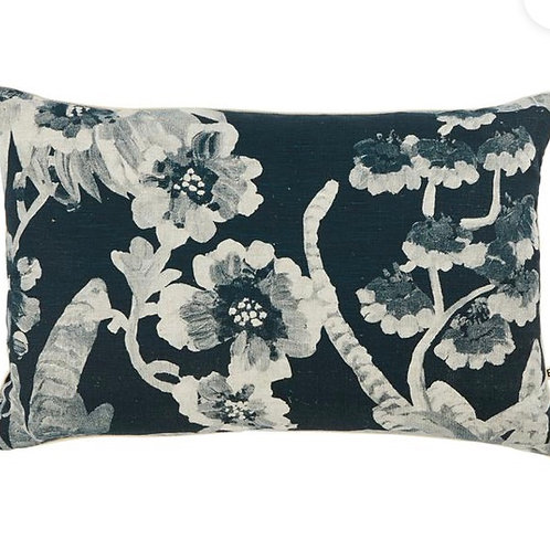 Cattleya Indigo Cushion  - Bonnie & Neil