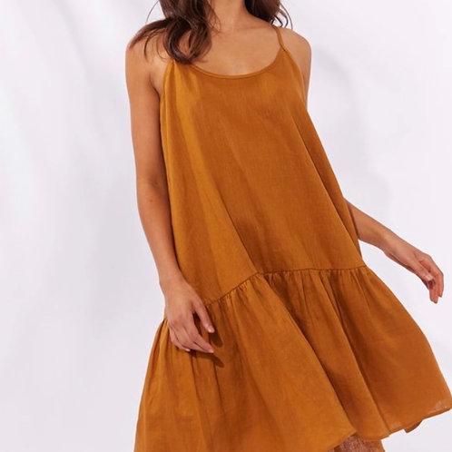 Majorca String Dress Caramel
