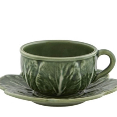 Cabbage - Tea Cup and Saucer