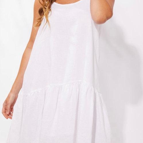 Majorca String Dress - White