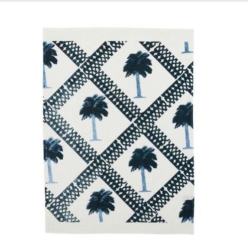Tiny Palms Indigo Tea Towel - Bonnie & Neil