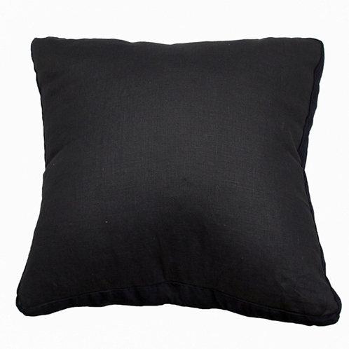 Essential Charcoal Linen Cushion - Coca Mojo