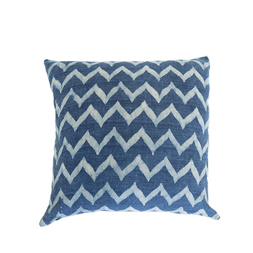 Chevron Indigo Cushion