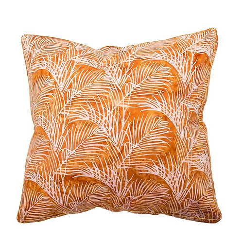 Quince Banglow Palm BatikCushion - Coca Mojo
