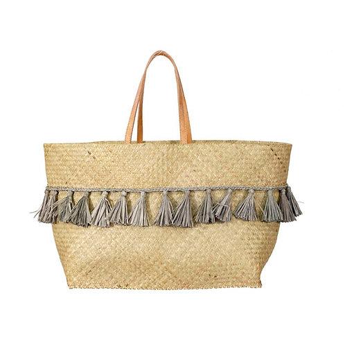 Penjy Grey Tassel Basket