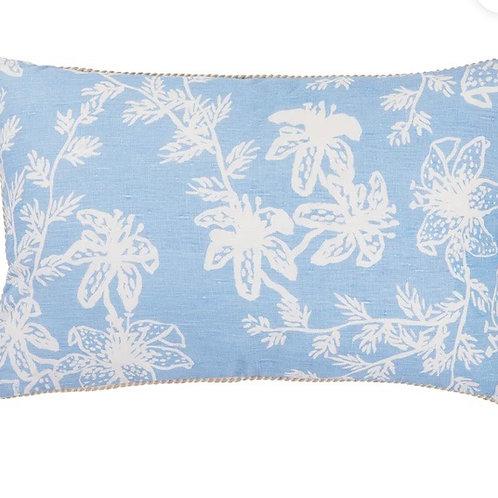Tiger Liliy Light Blue Cushion - Bonnie & Neil