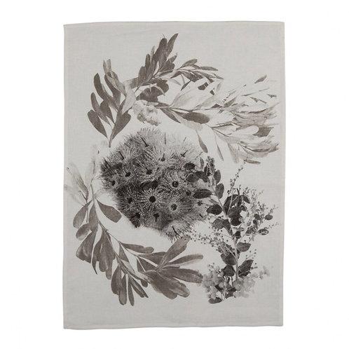 Bonnie & Neil Tea Towel Flowering Gum Black