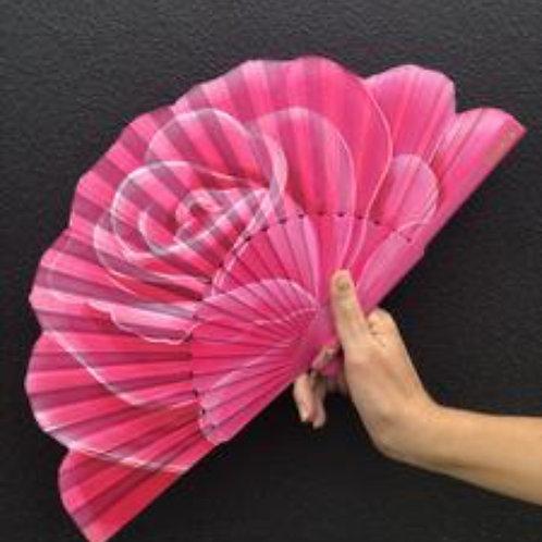 Summer Rose Silk Fan