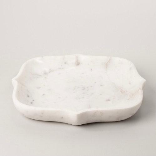 Square White Marble Isha Bowl