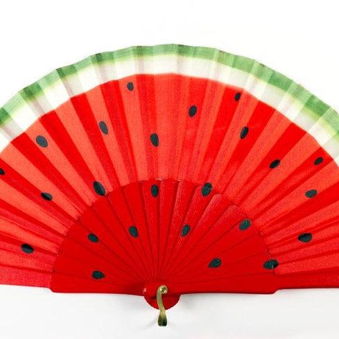 Melon Madness  Silk Fan