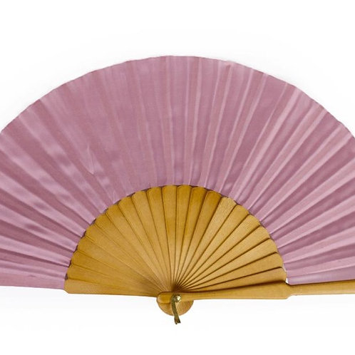 Dusty Rose Silk Fan
