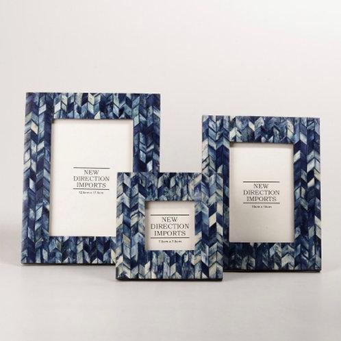 Indigo Blue Bone Frame 10x15