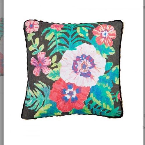 Fiji Floral Black Multi Cushion - Bonnie & Neil