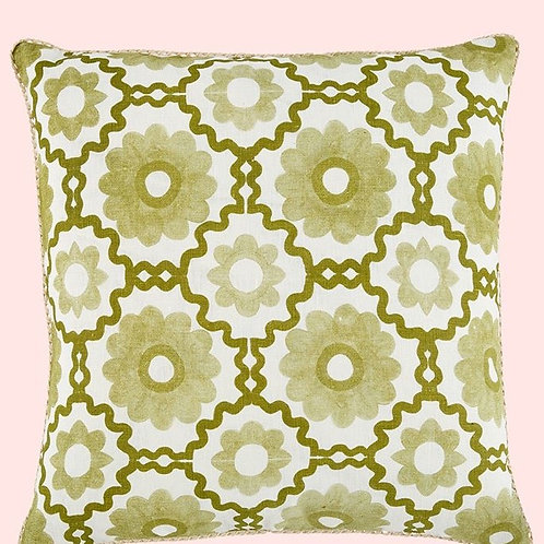Margerite Khaki Cushion - Bonnie & Neil