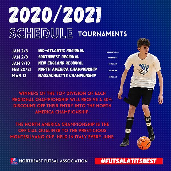 Tournaments NORTHEAST FUTSAL ASSOCIATION