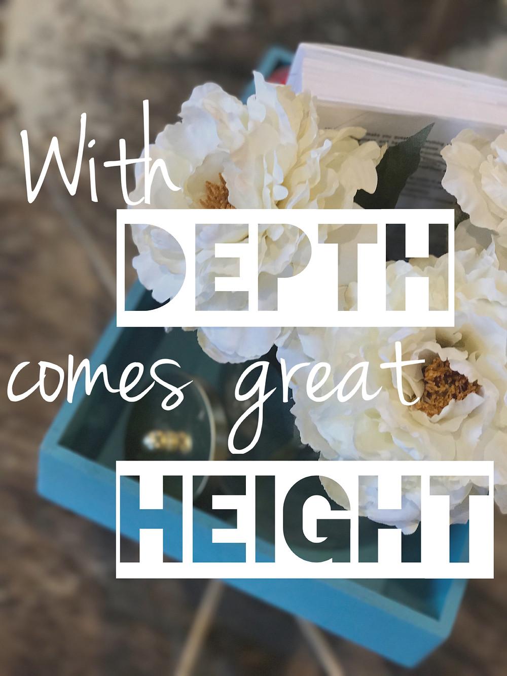 Depth is how we go higher.